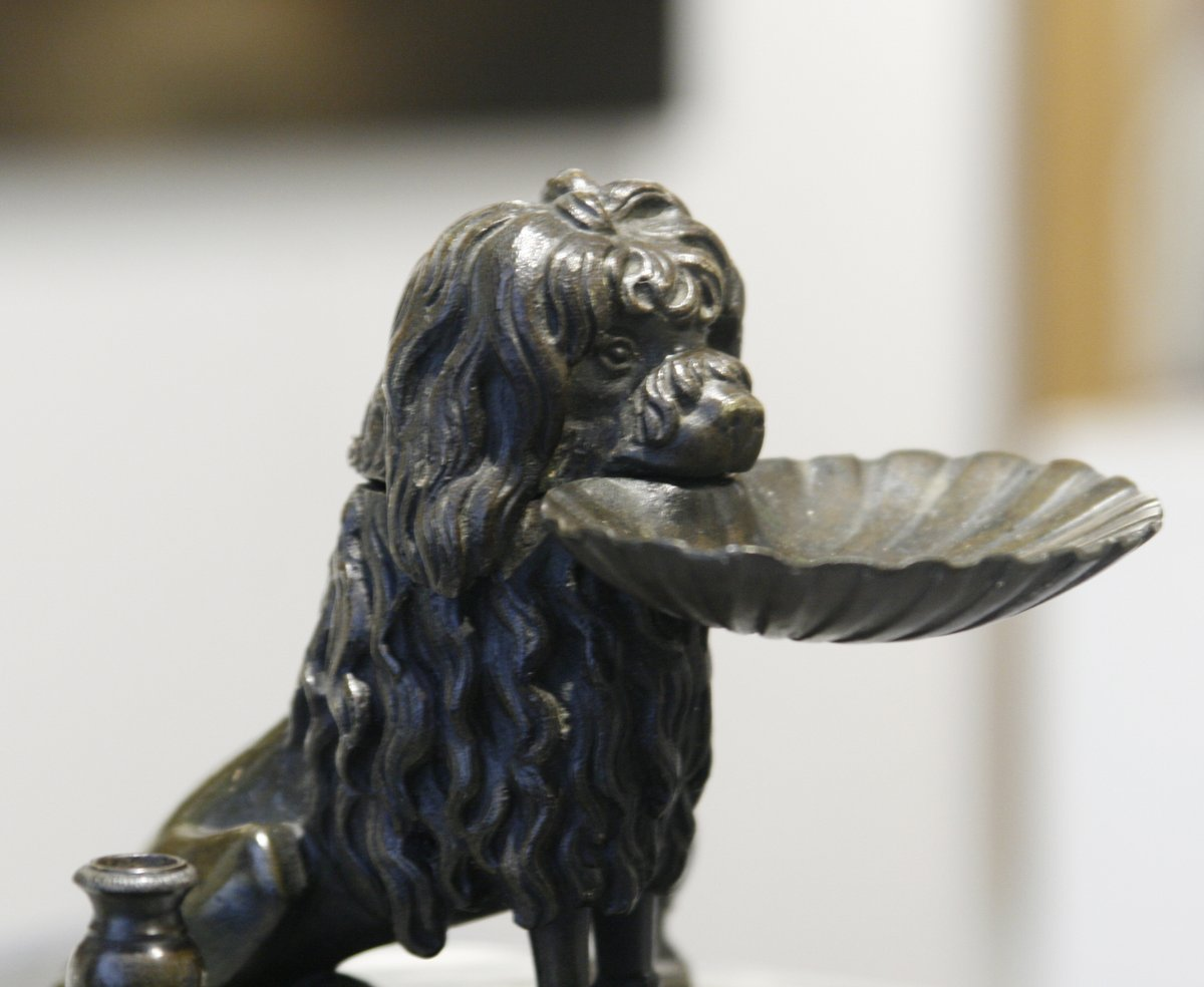 Inkwell Of A Dog In Bronze-photo-4