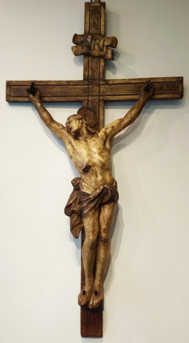 Superbe Corpus Christi En Papier Màchè,xviii Siècle