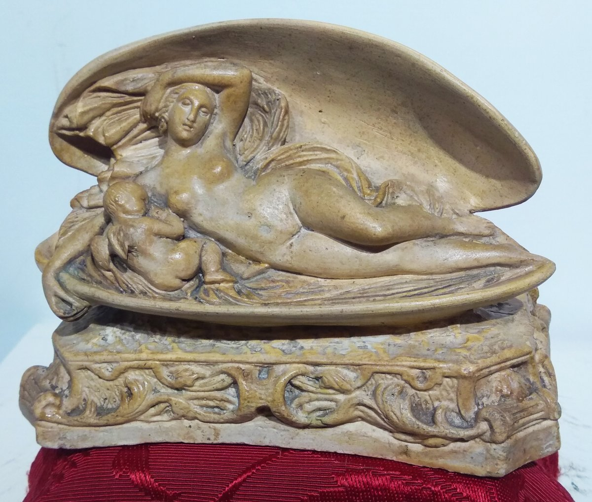 Venus With Little Angel Resting On A Shell