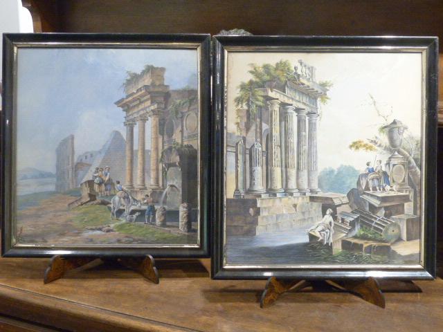 Vue de ruines romaines