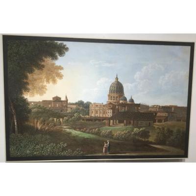 Vue De San Pietro De Via Delle Fornaci, Rome