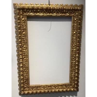 Richly Carved Golden Wood Frame