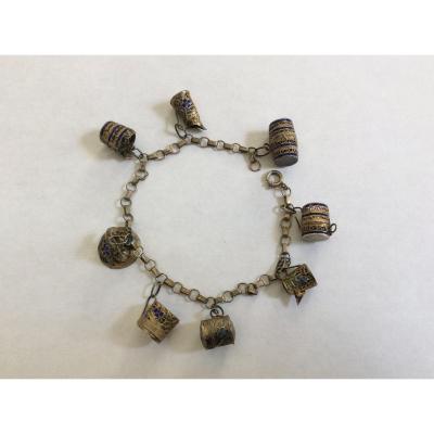 Openwork Silver Bracelet XIXth Century.