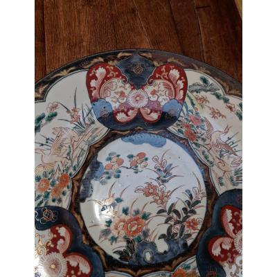 Grand Plat Céramique Japon 19ème Siècle
