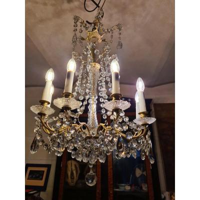 9 Lights Bronze Chandelier