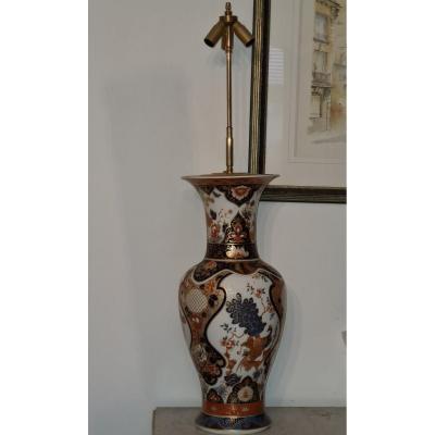Large Vase Mounted In Japanese Decor Lamp