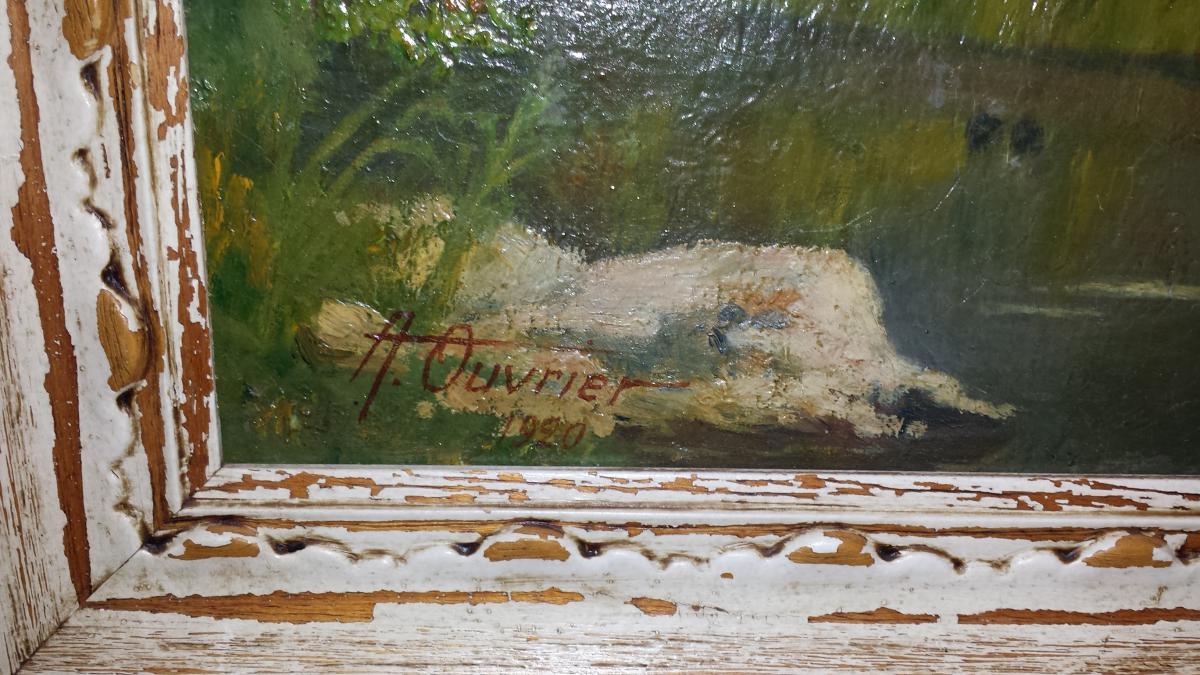 Paysage Vue Du Saint Leger De Peyre,signee En Bas A' Gauche Adrien Ouvrier Et Date' 1920-photo-4