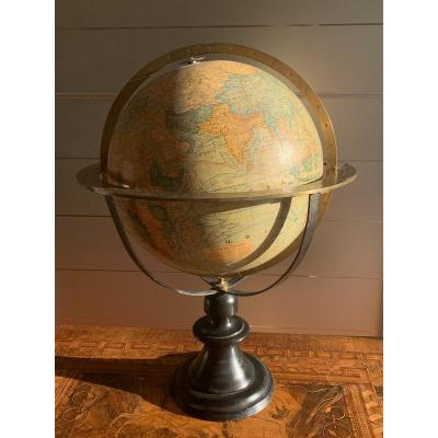 Terrestrial Globe Drawn  By J.forest H. 58cm.