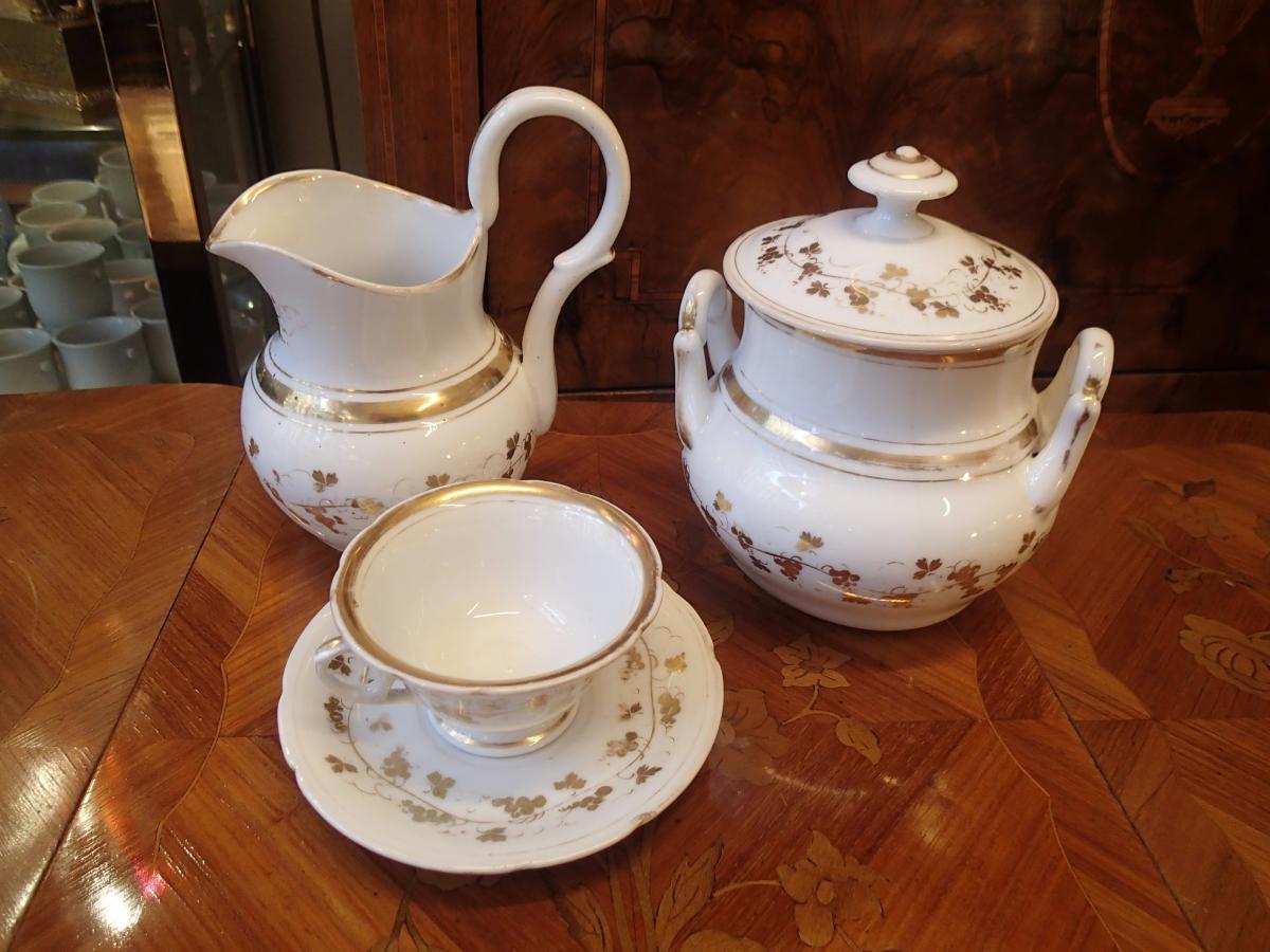 Service Cafe Porcelain Paris Period Mid 19th