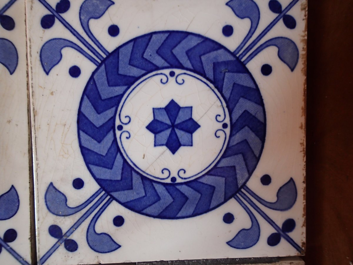 Lot Of Tiles Minton England Late 19th