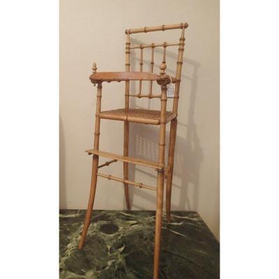 Jouet/ Chaise Haute De Poupee Annees 50