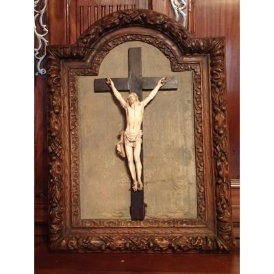 Christ En Croix Ivoire 19 Eme