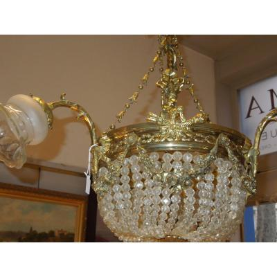 Gilt Bronze Hot Air Balloon Chandelier Late 19th Century