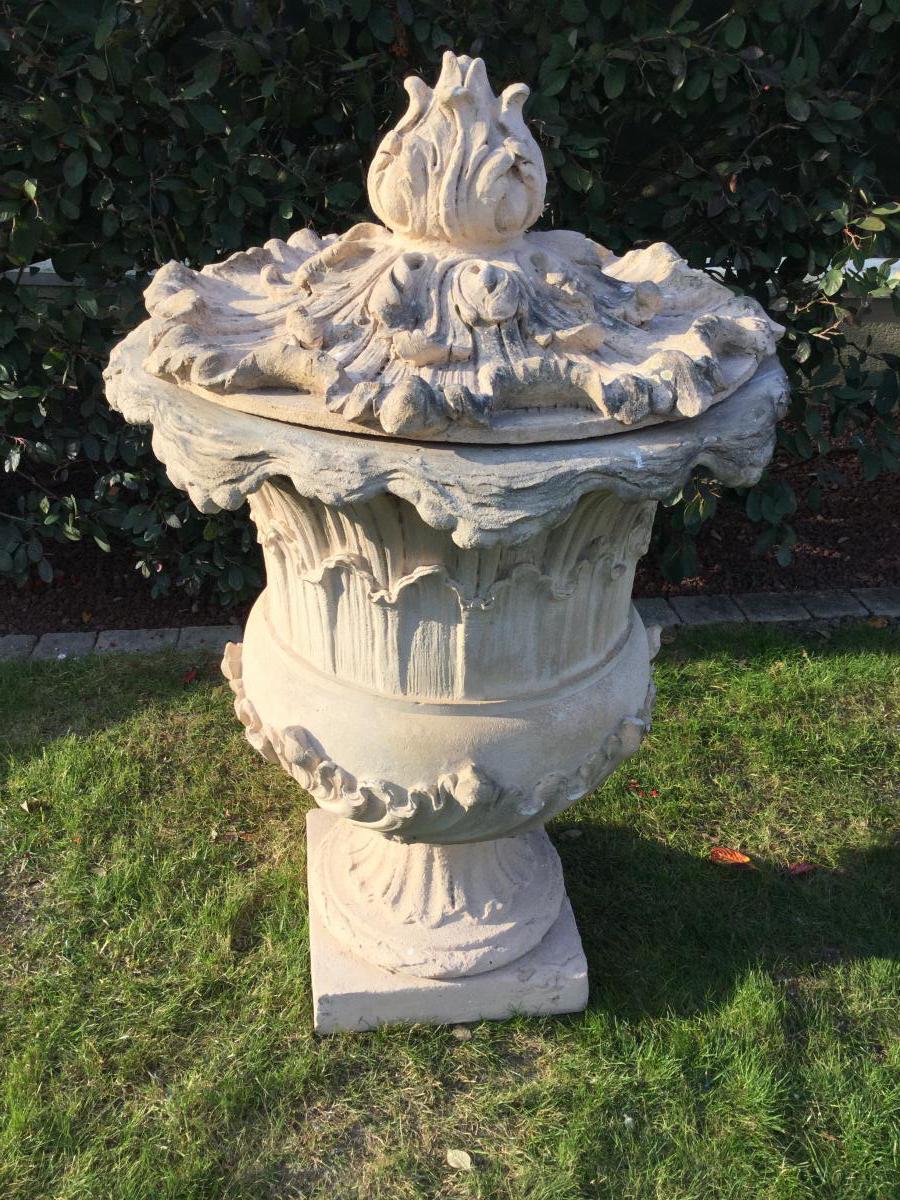 Grand Vase De Parc En Terre Cuite époque Fin XVIIIéme Début XIXéme
