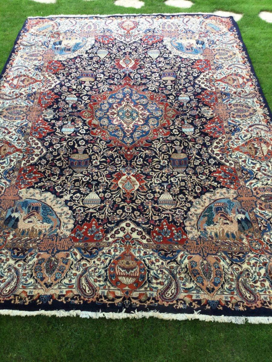 Grand Tapis Iranien 428x303 Cm Fait Main