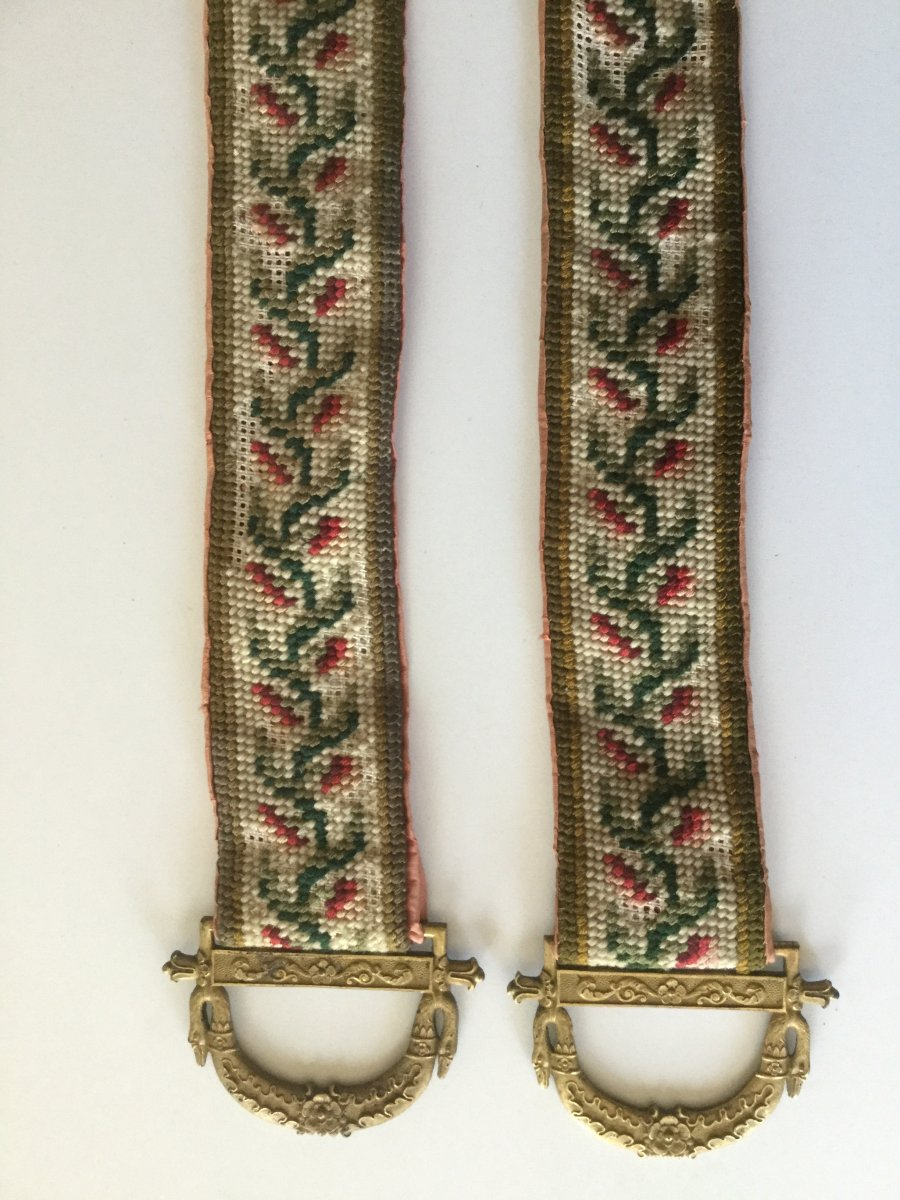 Pair Of Cord With Castle Bell Empire Period
