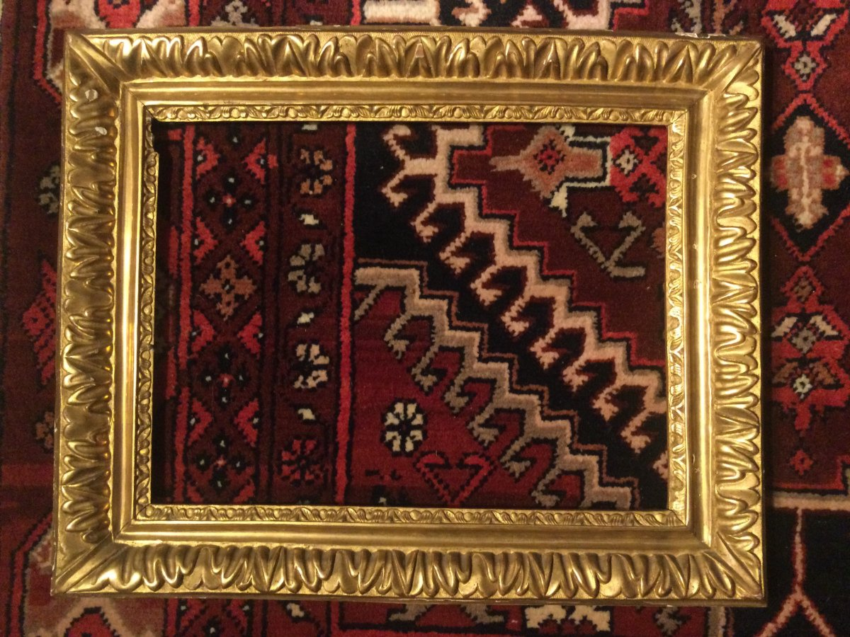 17th Century Carved And Gilded Wood Frame