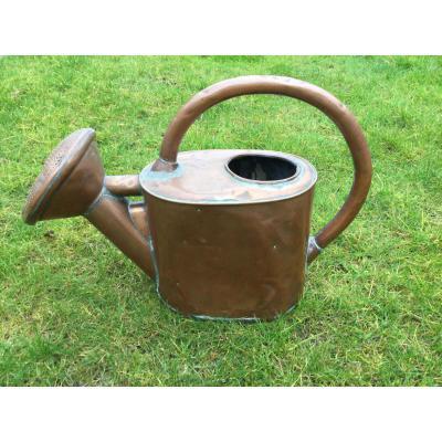 "Copper Watering Time XIXeme Brand ""poy"""