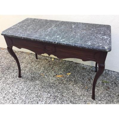 Console Table à Gibier époque Régence Travail De Port En Bois De Padouk