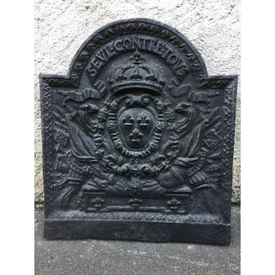 Plaque De Cheminée époque XVIIIéme Aux Armes De France