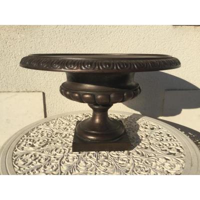 Vase Médicis En Fonte De Fer Doublé Bronze Diamètre 49 Cm