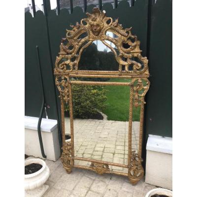 Large Mirror Beads Regency Period Height 170 Cm Width 93,5 Cm