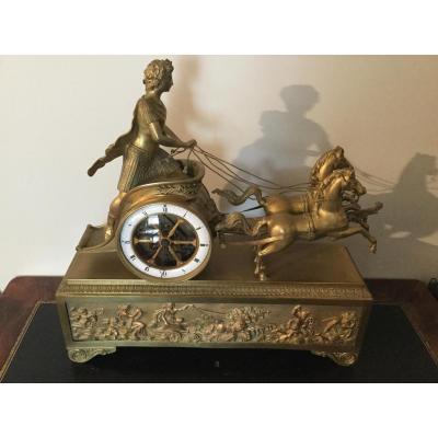 Pendulum In Char Empire Empire Gilt Bronze