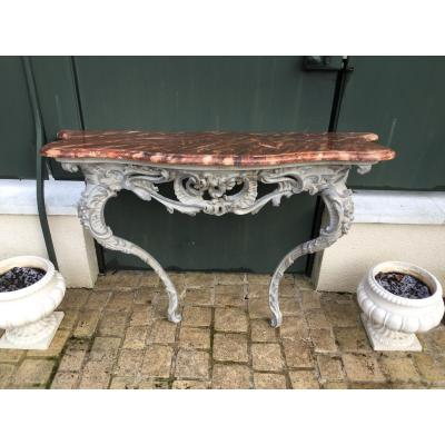 Lacquered Wood Console Louis XV