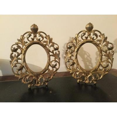 Paire De Cadre Ovale De Style Haute époque époque XIXÉme