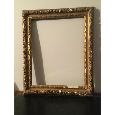 Frame XVIIth Century Carved And Gilded Wood