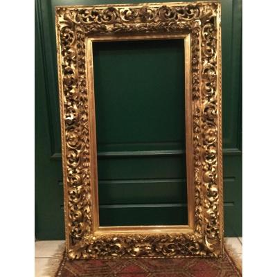 Frame In Openwork Molding In Wood And Stucco Gilded Louis XIII Style