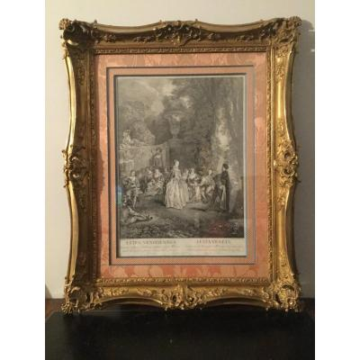 Louisxv Style Frame Wood And Stucco Gilded Perfect Condition