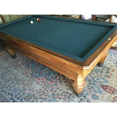 French Billiard Rosewood Signed From Clemencet To Montargis Long 239 Width 133 Height 83