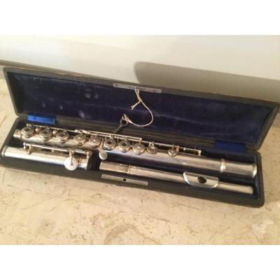 Flûte Traversière En Argent Signé Fernand Chapelain