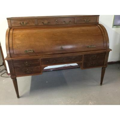 Large Mahogany Cylinder Desk Louis XVI Period Stamped C At Stadler