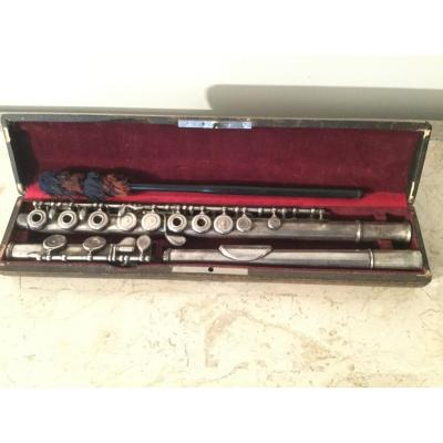 Silver Flute From Lebret In Paris Number 4186