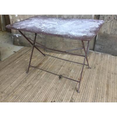 Table De Jardin En Fer Pliante 100,5x61,5 Cm