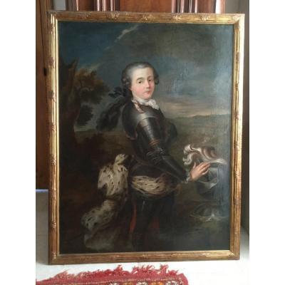 Portrait Du Chevalier D'eon De Beaumont Enfant époque XVIIIéme