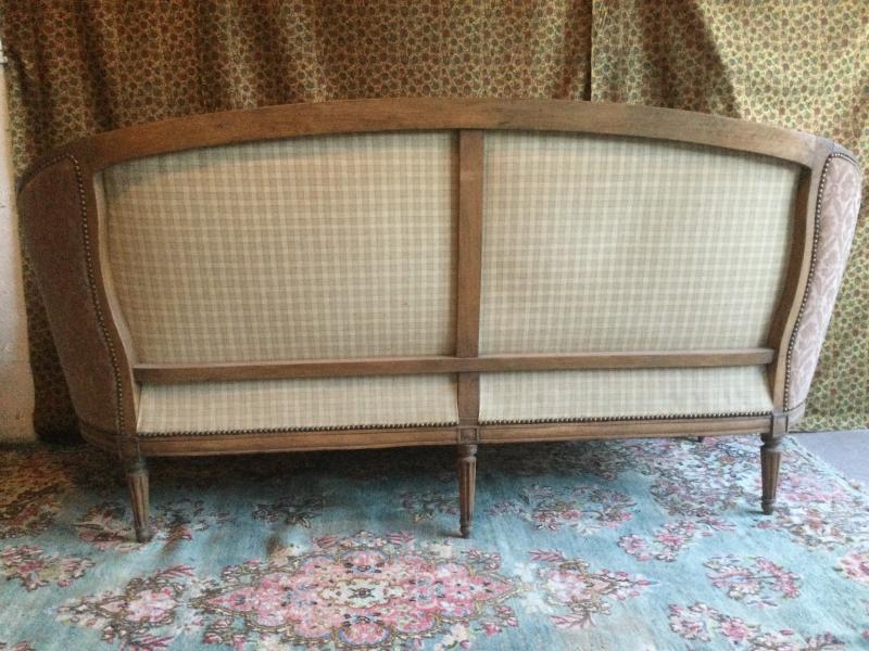 Basket Sofa With Cushion Stamped J.jb.demay Louis XVI Period-photo-4