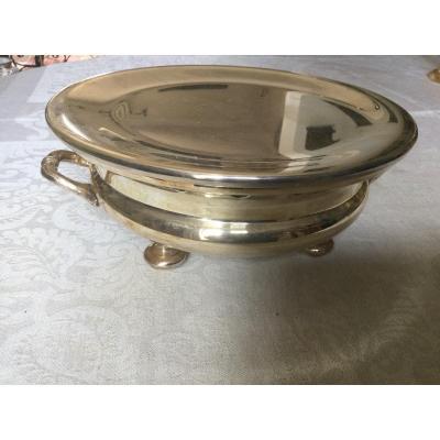 Dish Warmer In Silver Metal Goldsmith Rionnet Francois