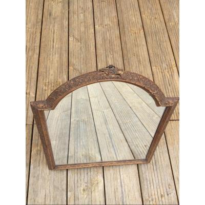 Regency Period Mirror In Saint Lucia Wood Work From Bagard