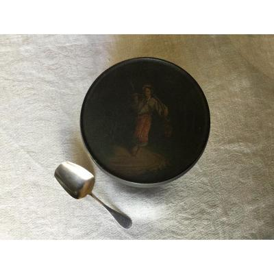 Russian Silver Tea Box And Spoon Second Half Nineteenth