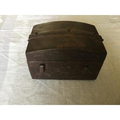 17th Century Iron Messenger Box Domed Top