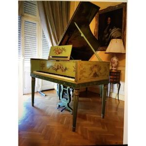 Rare And Exceptional Piano Brand Erard Louis XVI Style Fully Painted