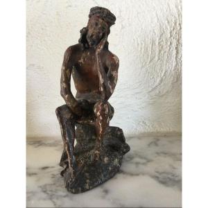 Christ In Polychrome Carved Lime Tree XVIIth Century