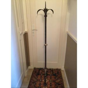 Large Wrought Iron Candle Pike 17th Time Height 151 Cm