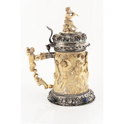 Ivory And Silver Mug