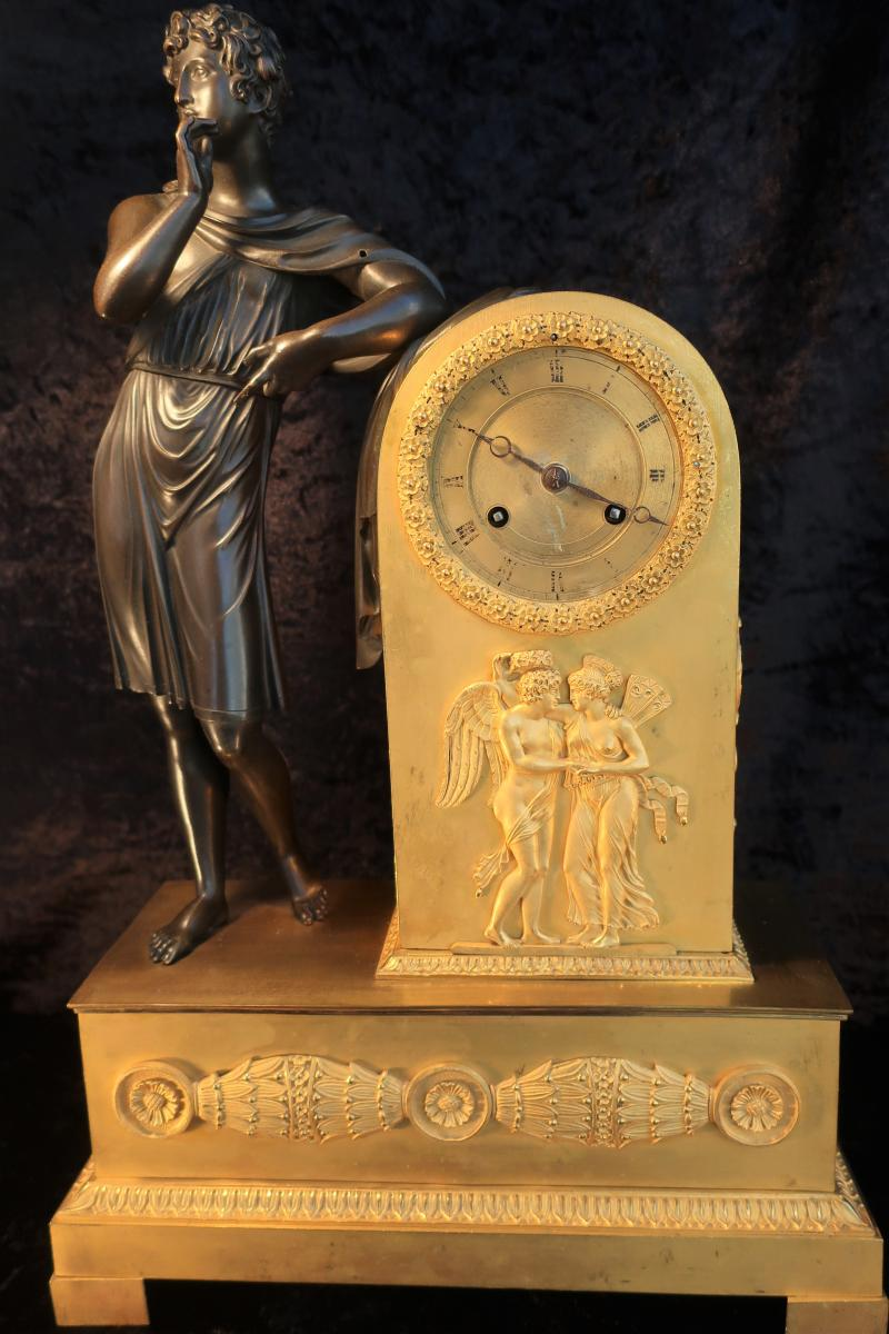 Important Bronze Dore Pendulum XVIIIth Apollo