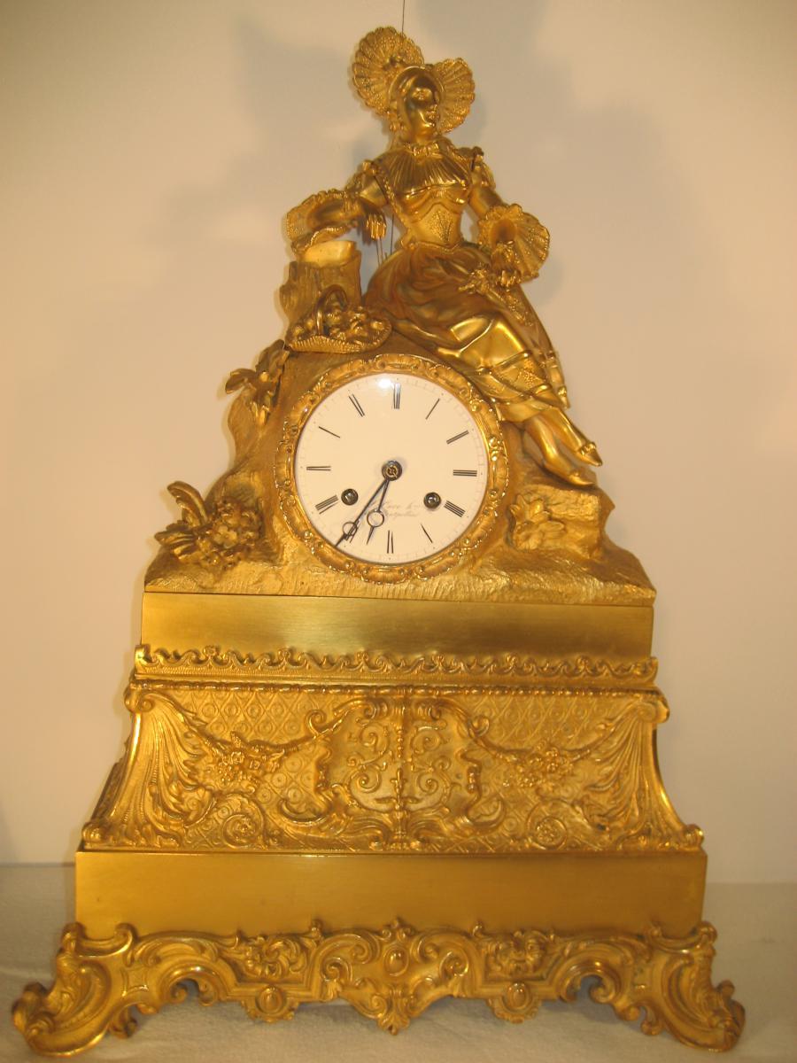 Romantic Pendulum Of Merchantability, 1830 Mercury Gilt