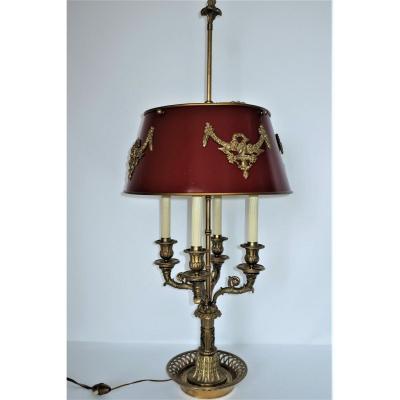 Important Hot Water Bottle Lamp With Horn Of Plenty XIXth Bronze Dore